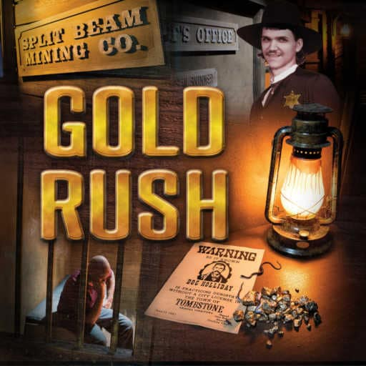 Gold Rush Room at Operation Escape in Williamsburg/Jamestown Virginia
